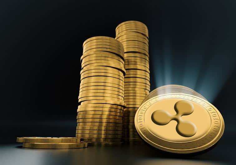 ripple coins in a stack