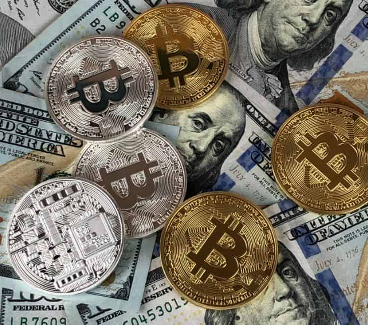 dollars and bitcoin