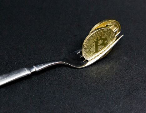 utensil with bitcoin
