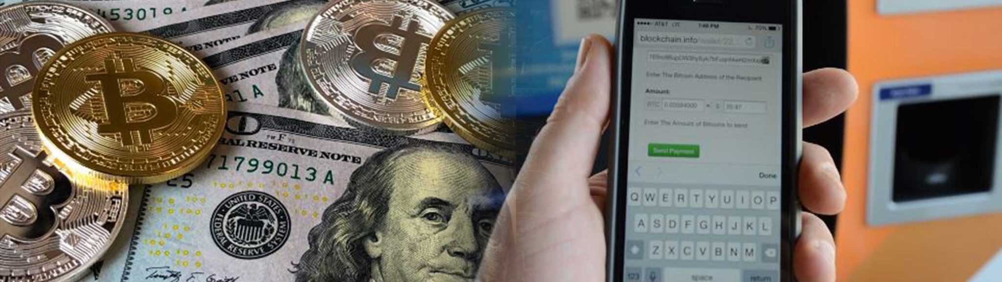 transfering crypto exchanged dollars using mobile device